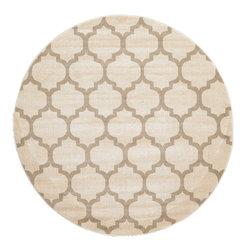 eSaleRugs - 6' 1 x 6' 1 Trellis Round Rug  - SKU #33115802 - Machine Made Trellis rug. Made of Polypropylene. Brand New.