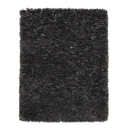 Anji Mountain - Gray Paper Shag Rug - 4' x 6' - Ethereal, Cumulonimbus cloud-like puffs of unbelievably soft fabric invite bare foot days and nights while maintaining a refined, contemporary disposition. This marvelous balance of comfort and style presents an array of dazzling applications throughout the home. This rug also makes a compelling sustainability statement with its inventive use of recycled paper in its pile.