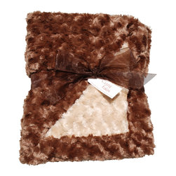 Brown/Camel Baby Blanket - This throw blanket is supremely soft and cozy while its two-tone color scheme keeps it looking elegant and sophisticated in any nursery. Buy this blanket for your baby or give as a shower gift to expectant parents. They'll be sure to love and cherish it for years.