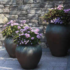 Traditional Outdoor Pots And Planters by Rock Spring Design Group LLC (David Verespy, ASLA)