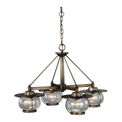 Vaxcel - Jamestown Parisian Bronze 4 Light Chandelier - Vaxcel H0007 Jamestown Parisian Bronze 4 Light Chandelier