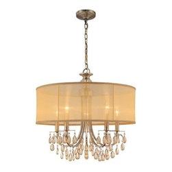 Crystorama Lighting Group - Crystorama Lighting Group 5625 Hampton 5 Light Drum Chandelier - Specifications: