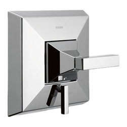 Toto - Toto TS930PV Polished Chrome Lloyd Pressure Balance Valve Trim with Diverter - This Toto TS930PV#CP Lloyd diverter pressure balancing trim features contemporary lines, a Polished chrome finish, a lever-style handle, and a durable construction for long-lasting performance.