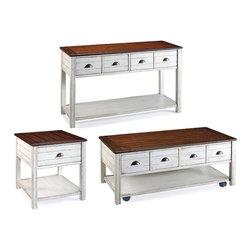Magnussen - Magnussen Bellhaven 3-Piece Accent Table Set in Alabaster - Magnussen - Coffee Table Sets - T1556XX3PcPKG