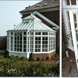 Greenhouse Conservatory with Lantern Roof -
