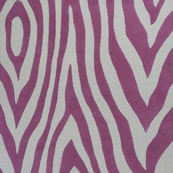 "KAS - KAS Kidding Around 438 Wild Side (Pink) 5' x 7'6"" Rug - Bring out the kid in you as you frolic through our Kidding Around Collection. Hand-tufted in India of 100% Wool, these rugs give toddlers and teens a place to relax and play around with friends. Fun and colorful themes give these rugs a playful look and feel."