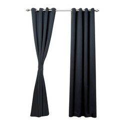 """Best Home Fashion - Solid Grommet Top Thermal Insulated Blackout Curtains - 1 Pair, Black, 120"""" - Bring warmth and style to your home with high-quality insulated Blackout window curtain pair. The grommet top adds a modern touch and provides energy efficient comfort. It features innovative fabric construction. Compared to other curtains, our product is extremely SOFT and DRAPERY. The sophisticated designs allow you to decorate your windows with great style. NEVER compare our Blackout Curtains with those cheap ones that are stiff and looks like a shower curtain. Blackout is perfect for : Late sleepers Shift workers Seniors Infants & parents Students Computer operators Care instruction : -Machine wash warm with like colors. -Use only non-chlorine bleach when needed. -Tumble dry low. -Warm iron as needed"""