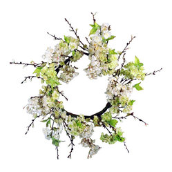 "Jane Seymour Botanicals - Spring Blossom Wreath - Here one minute, gone the next, spring blossoms leave you breathless with their fleeting beauty. Until now, that is. Enjoy these remarkably lifelike ""forever flowers,"" woven into a twiggy wreath, anywhere in your home for as long as you like."