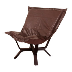 Howard Elliott - Howard Elliott Avanti Pecan Milan Puff Chair - Milan puff chair Avanti pecan
