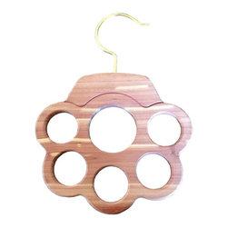 HAB3Design - Cedar Scarf Hanger - 6 Holes - Hang 6 or more scarves on one hanger