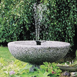 SunJet 150 Solar Fountain - This is a great thing to have if you already own the birdbath you want or want to give a pond additional features. The pump has options so you can have a small fountain that keeps birdbaths from going stagnant  all the way up to a more serious fountain 14 ft. tall.