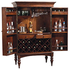 Contemporary Indoor Pub And Bistro Tables Howard Miller Cherry Hill Wine Rack and Bar Multicolor - 695014