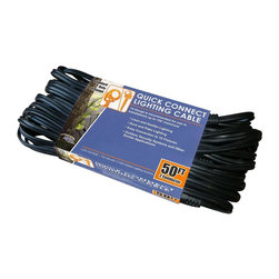 Alpine Fountains - 10 Sockets Lighting Cable Extension Cord - Quick connect lighting cable. 50 ft. cord, connect every 5 ft.. 14 gage cable. Weight: 2 lbs.The quick connect lighting cable is one of our newest landscaping and pond lighting features available. You can install any Alpine lighting feature to the quick connect water tight cable, which allows you to have many lights connected to 1 transformer, but 1 single cord. Install any Alpine light feature to connect multiple lights to a single cord!