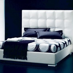 Gemma Bed - An Italian bed that comes in several colors of leather.