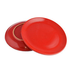 Vita Casalinga - Classic Red Terra-Cotta Dinner Plate - You are no shrinking violet and your culinary creations deserve a vibrant stage. Consider a set of classic terra-cotta dinner plates the color of rubies. Made in Italy by La Gabbianella, the torrid table settings will invigorate every meal!