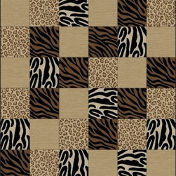 "Concord Global - Concord Global Soho Animal Boxes Prints Black Leopard Zebra 7'10"" x 10'10"" Rug ( - Soho collection is full of contemporary, geometric patterns which add texture to any room. Made of heavy heat-set olefin, this collection has the look and feel of authentic hand made rugs at a fraction of the price. Our recent additional patterns include a larger drop stitch effect giving the new designs a hand carve feel."