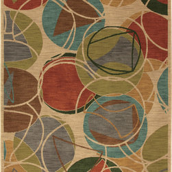 "Karastan - Karastan Artois 74800-14102 (Lille Croissant) 2'11"" x 4'8"" Rug - Clean lined geometrics, painterly abstracts and mid-century modern designs make up the fashion forward designs in the Artois collection. An exciting play of color and pattern embrace today's expressive style and takes this collection in modern directions."