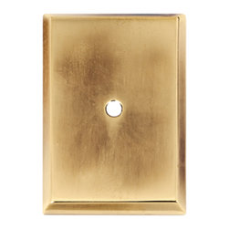Alno Inc. - Alno Inc. 1 1/2 Inch Rectangle Backplate Polished Antique - Alno Inc. 1 1/2 Inch Rectangle Backplate Polished Antique  Made from Solid Brass.