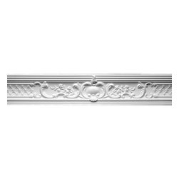 The Renovators Supply - Cornice White Urethane Fern Cornice | 12335 - Cornices: Made of virtually indestructible high-density urethane our cornice is cast from steel molds guaranteeing the highest quality on the market. High-precision steel molds provide a higher quality pattern consistency, design clarity and overall strength and durability. Lightweight they are easily installed with no special skills. Unlike plaster or wood urethane is resistant to cracking, warping or peeling.  Factory-primed our cornice is ready for finishing.  Measures 7 3/4 inch H x 79 3/4 inch L.