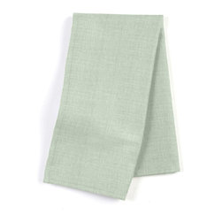 Seafoam Lightweight Linen Custom Napkin Set - Our Custom Napkins are sure to round out the perfect table setting'whether you're looking to liven up the kitchen or wow your next dinner party. We love it in this lightweight pure linen with characteristic light slubs in pale shade of seafoam green.