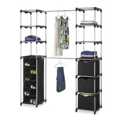 None - Whitmor Double Rod Organizer - This outstanding Deluxe Double Rod Closet from Whitmor will solve your closet storage cluster. Featuring ample storage shelves on each side of the two sturdy hanging bars and more this organizer is sure to meet all of your clothes storage needs.