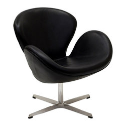 Wing Leather Lounge Chair - Perhaps no chair is more synonymous with organic design than the Wing chair. First intended as an outstretched reception chair, the piece is expansive like the wings of its namesake. While organic living promotes the harmonious balance between human habitation and the natural world, achieving proper balance is a challenge.