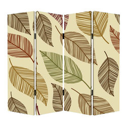 Perpetual Leaf Screen - If you're turning over a new leaf and shaking things up a bit, go for major impact. This falling leaf screen offers four panels, so you can tailor the position to your liking after the decorating dust settles.