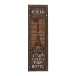 Benzara - Eiffel Tower Themed Wooden Framed Wall Decor - Eiffel Tower Themed Wooden Framed Wall Decor. Bring in the worlds magnificent man-made wonder to your home. Some assembly may be required.