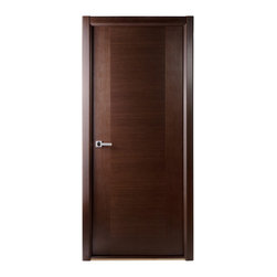 Classica Lux Interior Door Wenge - The Classica Lux door is a perfect combination of minimalism and sophistication. With horizontal wood grains and a high quality textured veneer, this door comes either in an Oak or Wenge finish.