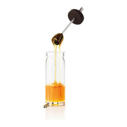 Blomus - Desa Honey Glass with Silicon Spoon - Everything associated with your honey should be all sweetness and light, right? But things can get messy and suddenly you're dealing with a sticky situation or two. The Desa Honey Glass with silicon spoon is here to help keep your relationship simple, transparent and sweet.