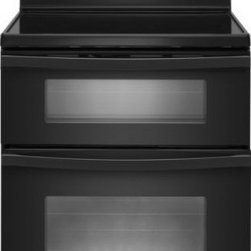 Whirlpool - WGE555S0BB 6.7 Total cu. ft. Double Oven Electric Range With AccuBake System  Ra - The WGE555S comes with rapid preheat that uses all of the elements to heat the oven quickly ThePrecise Clean Self-Cleaning System tracks the time between self-clean cycle in order toensure the self-clean cycle lasts as long as necessary