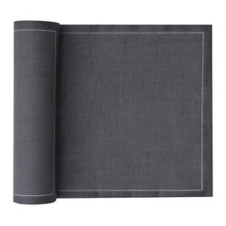 Linen Premium Dinner Napkin Roll, Intense Grey