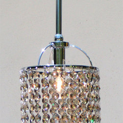 Crystal Chandelier Pendant - This elegant chandelier would look wonderful on each side of the sink and over a vanity.