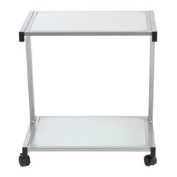Euro Style - Euro Style L Printer Cart X-52772 - Finished to match the L Desk, this cart has plenty of room for larger printer and supplies. And with four casters, it's ready to roll.