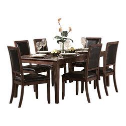 Homelegance - Homelegance Avalon 72 Inch Rectangular Dining Table in Cherry - 1930's art deco glamour fuses with modern accessibility in this gorgeous dining table.