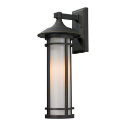 Z-Lite - Z-Lite Woodland Outdoor X-BRO-M035 - Clean contemporary styling on a traditional look make this medium wall mount fixture well suited for any home. The light has oil rubbed bronze finish with matte opal glass.