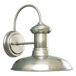 Progress Lighting - Progress Lighting P5722-81 One-Light Wall Lantern Metal Shade - One-light solid brass wall lantern