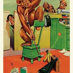 """Buyenlarge.com, Inc. - Office Golf- Paper Poster 20"""" x 30"""" - Another high quality vintage art reproduction by Buyenlarge. One of many rare and wonderful images brought forward in time. I hope they bring you pleasure each and every time you look at them."""
