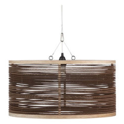 Upcycle Pendant Lamp - Here's a great option for a hanging light. This pendant lamp is designed by Joe Manus and made from upcycled corrugated cardboard and plywood.