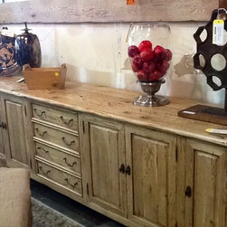 """The Find Consignments 3850 F Barranca Pky Irvine Ca - Guy Chaddock Country English Buffet 112"""" x 22"""" x 36"""" h."""
