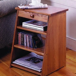 Periodical End Table with Drawer by Manchester Wood - Our unique Periodical Table with Drawer is a combination end table and magazine rack for convenient storage. A built-in drawer provides additional space for storing items.