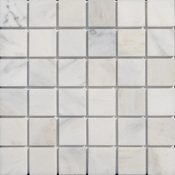 "GlassTileStore - Asian Statuary 2x2 Honed Marble Tile - Asian Statuary 2x2 Honed Marble Tile             This marble mosaic will provide endless design possibilities from contemporary to classic. It creates a great focal point to suit a variety of settings. he mesh backing not only simplifies installation, it also allows the tiles to be separated which adds to their design flexibility. Natural stones are products of nature, therefore, variations in color, pattern, texture, and veining will occur.         Chip Size: 2"" x 2""   Color: Asian Stataury    Material: Marble   Finish: Honed    Sold by the Sheet - each sheet measures 12"" x 12"" (1 sq. ft.)   Thickness: 10mm   Please note each lot will vary from the next.            - Glass Tile -"