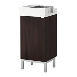 Inma Bermudez/IKEA of Sweden - LILLÅNGEN Sink cabinet with 1 door - Sink cabinet with 1 door, black-brown