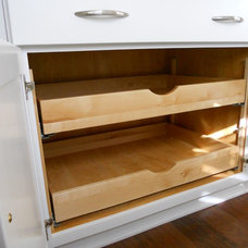 Transitional Kitchen Drawer Organizers by Jamie McConnell of Factory Builder Stores