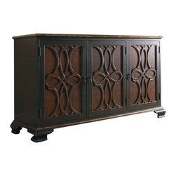 Hooker Furniture - Hooker Furniture Adagio Two Tone Credenza - Hooker Furniture - Console Tables - 510385001 - Grand scale, classic design and soft, flowing shapes are married with a rich, dark finish to give birth to the stunning Adagio collection.