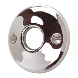 Renovators Supply - Door Knob Roses Bright Chrome Colonial Passage Doorknob Rose - Passage Doorknob Roses: These Chrome-plated cast brass door roses have a 2 in. outer diameter and a 5/8 in. inner diameter. These roses work with our dummy knob spindle (20152).  Sold in pairs and includes four raised oval head 1 inch countersunk wood screws.