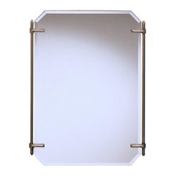 Kichler Mirrors As a match - Antique Pewter - Mirrors. As a match to the beauty wrap bath fixture, purchase this fine antique pewter beveled mirror to complete a uniform look for your beauty wrap lighting system. It measures 24 wide by 32 high.