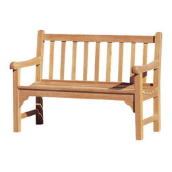 Oxford Garden Essex 4' Shorea Bench - Sometimes good things come in small packages like the Essex 4' Bench.  When you need that little place filled, the Essex is the answer.  In magnificent Shorea wood, the little one is just as practical and mighty.  Natural oils of the wood mean never having to stain or paint.  Need a place to put your shoes on in the morning?