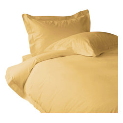 500 TC Duvet Cover Solid Gold, Full - You are buying 1 Duvet Cover only. A few simple upgrades in the bedroom can create the welcome effect of a new beginning-whether it's January 1st or a Sunday. Such a simple pleasure, really-fresh, clean sheets, fluffy pillows, and cozy comforters. You can feel like a five-star guest in your own home with Sapphire Linens. Fold back the covers, slip into sweet happy dreams, and wake up refreshed. It's a brand-new day.