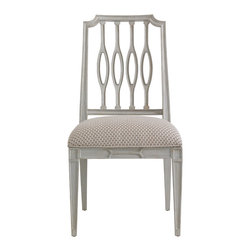 Stanley Furniture - Charleston Regency Cooper Dining Side Chair - The elliptical silhouette of the Cooper Dining Side Chair's pierced back splat is at home in transitional and traditional environs alike. Made to order in America.
